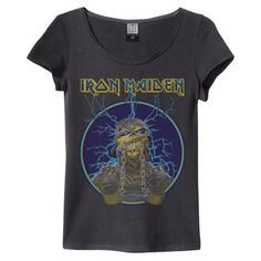 IRON MAIDEN MUMMY T-SHIRT WOMEN ❤ liked on Polyvore featuring tops and t-shirts