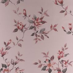 56 sq. ft. Rose Red Clemmie Wallpaper