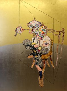 """Homage to Francis Bacon"" 2016 de Takashi MURAKAMI - Galerie Perrotin © Photo Éric Simon Superflat, Takashi Murakami Prints, Murakami Artist, Francis Bacon, Japanese Hand Tattoos, Murakami Flower, Pop Art, Japanese Art Modern, Art Japonais"