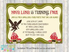 Woodland Fairy Invitation -