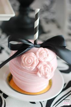 | Trend Alert:  Dollhouse Tea Party | http://soiree-eventdesign.com  Gourmet candy apples by Roni's Sugar Creations