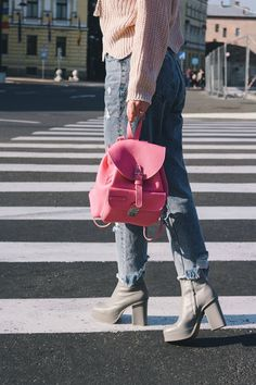 Message Backpack, Dusted Pink backpack, Summer Bags, Summer Backpack, Dusted Pink bag, Fashion Backpack, Summer Bags, Backpacker, School Backpacks, Pink Fashion, Luxury Handbags, Leather Bag, Im Not Perfect, Satchel, Vogue
