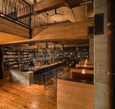 La Spiga, restaurant and bar, 1425 Avenue on Capitol Hill. Clients, Dovetail Inc., and Graham Baba Architects ©Benjamin Benschneider… Eclectic Restaurant, Bar Restaurant, Rustic Restaurant, Restaurant Concept, Restaurant Interior Design, Design Hotel, Madison Avenue, Japan Design, Bar A Vin