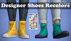 Tukete: Designer Shoes Recolors • Sims 4 Downloads