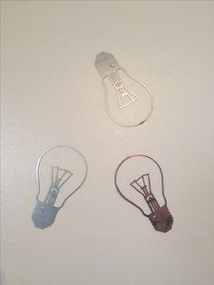 Vintage Lightbulb - Galvanized Steel, Steel, Copper Plated.