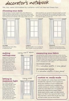 window curtain dimensions for length and hang height - Hanging Drapery