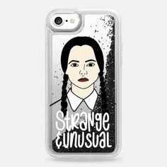 Wednesday Addams Casetify iPhone 7 Liquid Glitter Case - by Sarah Types
