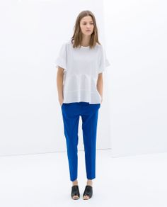 ZARA - WOMAN - ANKLE-CROPPED TROUSERS SS14