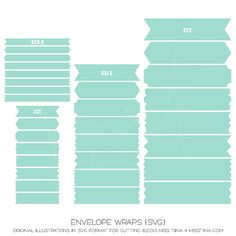 Envelope Wraps {SVG}. Can use this image for the dimensions to make your own envelope wrappers.
