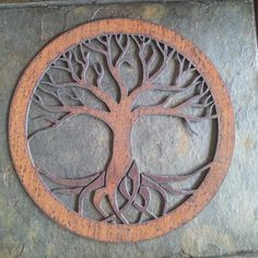 Rustic Tree of Life Recycled metal art small