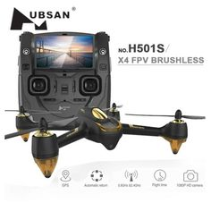 Hubsan H501S X4 Pro 5.8G FPV RC Drone with Camera HD 1080P GPS RTF Remote Control Helicopter Elfie RC Quadcopter Follow Me Mode^ #Affiliate