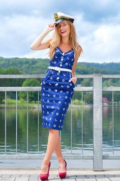 Look Námořnický styl od POSHme Stylus, Vintage, Fashion, Moda, Style, Fashion Styles, Fashion Illustrations
