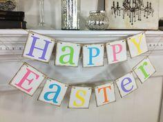 Happy Easter Banner Easter decor Happy Easter Banner Easter sign Easter Photo Prop Easter decoration Easter Banner