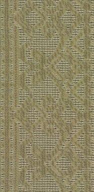 "Greige on Green ""Stria Scroll"" carpet border"