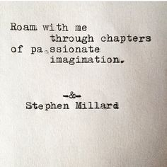 Stephen Millard - Poem #277