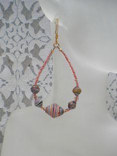 Diy paper bead earrings
