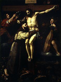 Francisco Ribalta Saint Francis Embracing Christ (c.1620) Museum of Fine Arts, Valencia, Spain