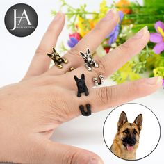 Mister The German Shepard - Ring - Size Is Fully Adjustable Up To Ring Size 12