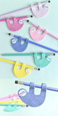 UnicornHatParty: Kids DIYs by truebluemeandyou Easy Felt Crafts, 3d Paper Crafts, Pencil Toppers, Pencil Bags, Thinking Day, Camping Crafts, Crafts For Girls, Student Gifts, Kids Bags