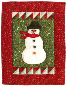 Snowman mini quilt, in: Favorite Christmas Quilts From That Patchwork Place eBook