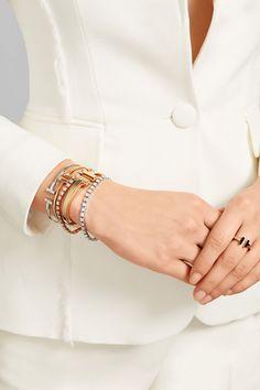 Tiffany & Co | T Tennis medium 18-karat rose gold diamond bracelet | NET-A-PORTER.COM