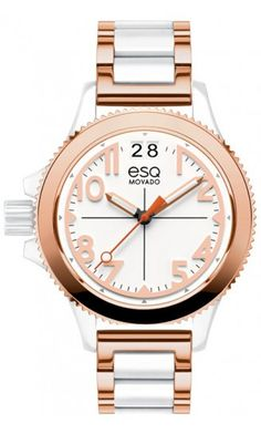 "ESQ by Movado ""Fusion"" woman's watch. Stainless Steel Rose Gold IP Plated Quartz Movement at DarcysFineJewelers.com for $595"