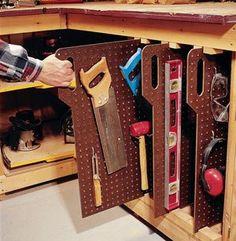 Great Tool Storage....fantastic Idea!