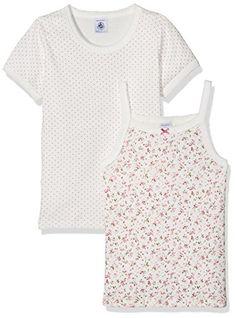 Petit Bateau 2 Pack N//S Girls Undershirts Aqua-HOT Pink Style 15238 Sizes 2-14
