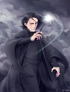 In memory of Alan Rickman. One year ago today, I woke up to the knowledge that Alan Rickman, arguably one of my favorite actors, had passed away. Although he may have played one of our least favorite professors, he will forever and always be in our hearts. Until the very end, Potterheads. /*