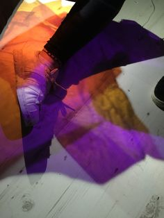 Creative use of light - cellophane experiments