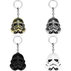 Lucasarts Star Wars 3D Storm Trooper Darth Vader Mask White Soldiers Metal Keychain Pendant Key Chain Chaveiro #Affiliate