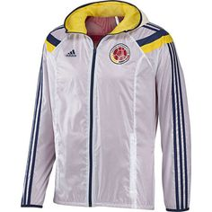 Chaqueta Anthem Selección Colombia, White / Laser / New Navy / University Red, zoom