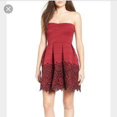 Sale!! Dee Elle Appliqu Strapless Dress