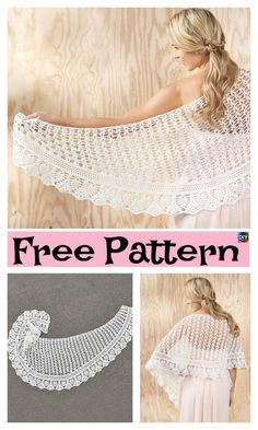 Pretty Crochet Gardenia Shawl – Free Pattern #freecrochetpatterns #shawl