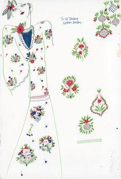 Celia Birtwell Design Sketch.                                                                                                                                                                                 More