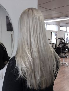 Light silver / Grey hair - hopean harmaat pitkät hiukset