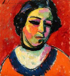 Portrait of a Woman, by Alexej von Jawlensky