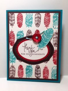 CC447 Feathers by Luanne Ford - Cards and Paper Crafts at Splitcoaststampers