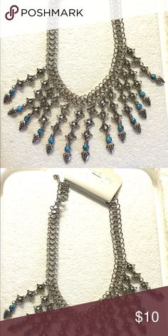 Antique silver turquoise necklace. NWT Antique silver turquoise necklace! NWT Jewelry Necklaces