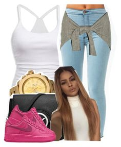 """""""."""" by trillest-queen ❤ liked on Polyvore featuring American Eagle Outfitters, Vestal, Michael Kors and NIKE"""