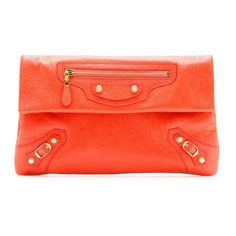 Balenciaga Giant 12 Envelope Leather Clutch ($805) ❤ liked on Polyvore featuring bags, handbags, clutches, balenciaga, purses, leather clutches, envelope clutch, leather purses, red hand bags and balenciaga handbags