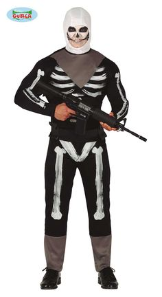 Skeleton Soldier Gaming Costume Large includes top and trousers with bone print, neck scarf, belt and hood. Buy now from Giftsnparty Superhero Fancy Dress, Soldier Costume, Cosplay Events, Neck Scarves, Skeleton, Looks Great, Trousers, Scarf Belt, Costumes