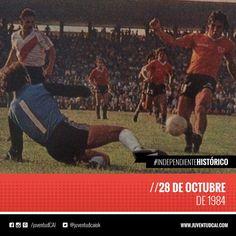 #IndependienteHistorico Fecha 29 del torneo. Doble Visera. #Independiente derrota a River por 3 a 2. Goles: Barberón, Marangoni y Bochini.