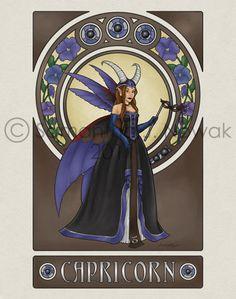 Masquerade Zodiac Capricorn by GargoyleGoddess21.deviantart.com on @deviantART