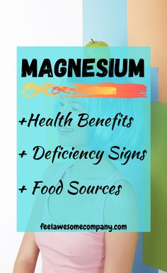 Magnesium is a wonderful mineral that helps us stay young, healthy and strong. A magnesium deficiency in your body can make you age faster! Signs Of Magnesium Deficiency, Magnesium Foods, Magnesium Benefits, Health Benefits, Brain Nutrition, Nutrition Tips, Health And Nutrition, Health And Wellness, Increase Blood Pressure