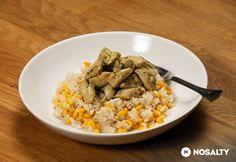 Mustáros-tárkonyos csirkemell kukoricás barna rizzsel