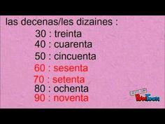 Les chiffres et les nombres espagnols - YouTube