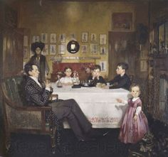 Sir William Orpen ~ A Bloomsbury Family - 1907-09 Note the funny expressions on the faces of the children