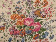 1970s Lush Botanical Floral Print on Cotton by lostnfounddrygoods, $62.00
