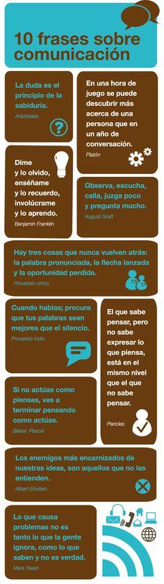 """10 frases sobre la comunicación - """"Cuando hables, procura que tus palabras sean mejores que el silencio"""""""
